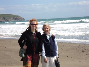 Granny and Me, Aberdaron, North Wales 2011