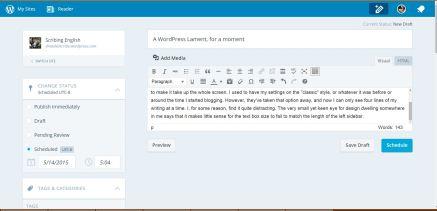 wordpress lament